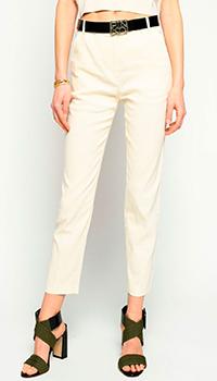 Укороченные брюки Pinko из льна, фото