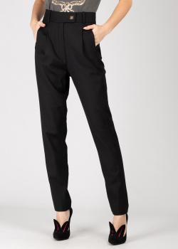 Черные зауженные брюки Pinko с защипами, фото