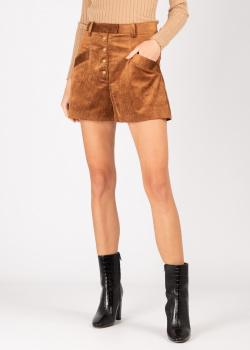 Вельветовые шорты Pinko коричневого цвета, фото
