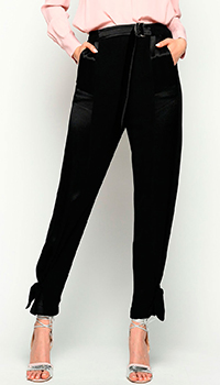 Брюки Pinko с завязками на штанинах, фото