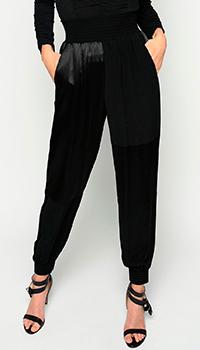 Брюки Pinko с резинками на поясе и на низу штанин, фото