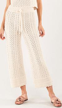 Трикотажные брюки Pinko бежевого цвета, фото