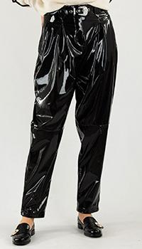 Черные брюки Pinko с защипами  и поясом, фото
