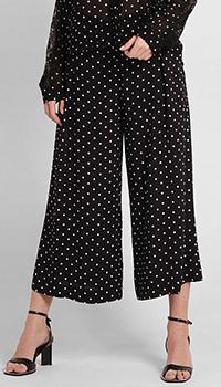 Женские брюки Pinko в горошек черного цвета, фото