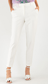 Укороченные брюки Pinko белого цвета, фото