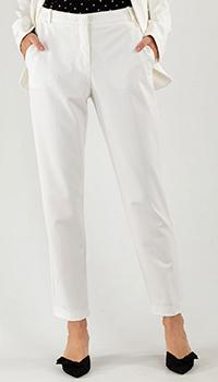 Брюки Pinko белого цвета со стрелками, фото
