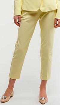 Желтые брюки Pinko со стрелками, фото