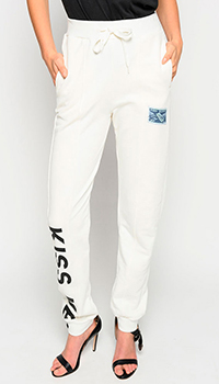 Спортивные брюки Pinko белого цвета, фото