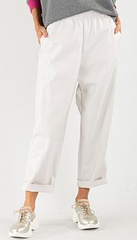 Белые брюки Pinko на резинке, фото