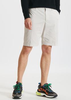 Светло-бежевые шорты EA7 Emporio Armani из хлопка, фото