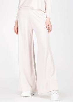 Широкие брюки Allude из шерсти пудрового цвета, фото
