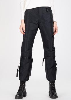 Черные брюки N21 с карманами на молнии, фото