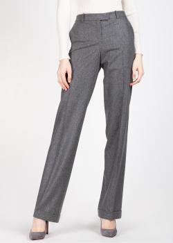 Шерстяные брюки Michael Kors серого цвета, фото