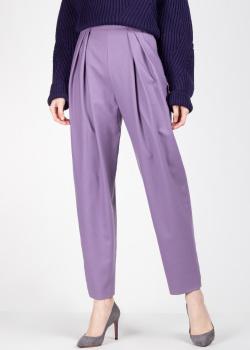 Трикотажные брюки Alberta Ferretti сиреневого цвета, фото