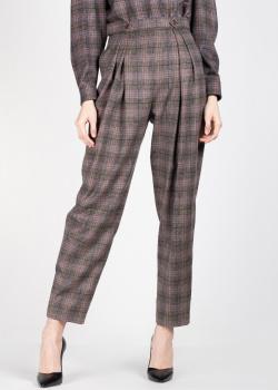 Клетчатые брюки Alberta Ferretti с защипами, фото