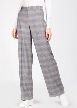 Широкие брюки Lorena Antoniazzi из шерсти серого цвета, фото