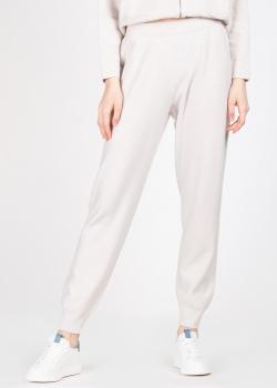 Трикотажные брюки Fabiana Filippi молочного цвета, фото