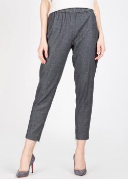 Серые брюки Fabiana Filippi с шевронным узором, фото