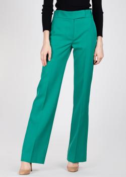 Зеленые брюки Rochas со стрелками, фото