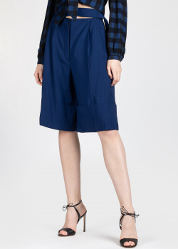 Широкие шорты Patou синего цвета, фото