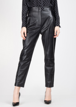 Кожаные брюки Alberta Ferretti с защипами, фото