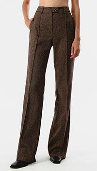 Шерстяные брюки Shako коричневого цвета, фото