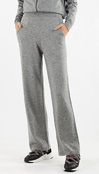 Трикотажные брюки Repeat Cashmere с кашемиром серого цвета, фото
