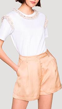 Бежевые шорты Twin-Set с карманами, фото