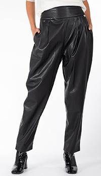 Черные штаны Twin-Set из эко-кожи, фото