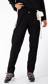 Черные спортивные брюки Twin-Set с лампасами, фото