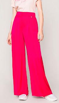 Широкие брюки Twin-Set малинового цвета, фото
