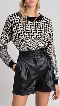 Черные шорты Twin-Set из искусственной кожи, фото