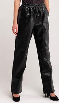 Широкие брюки из искусственной кожи Twin-Set на завязках, фото