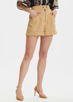 Широкие шорты Twin-Set бежевого цвета, фото
