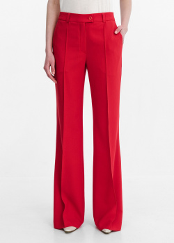 Расклешенные брюки Shako красного цвета, фото