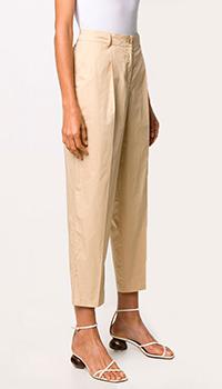 Нюдовые брюки Twin-Set со стрелками, фото