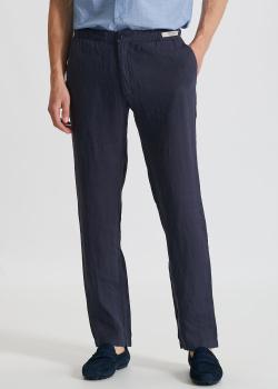 Льняные брюки Paul&Shark синего цвета, фото