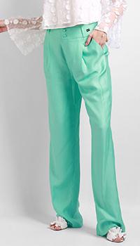 Широкие брюки Be Blumarine бирюзового цвета, фото
