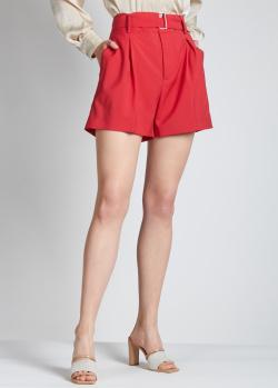 Красные шорты N21 с защипами, фото