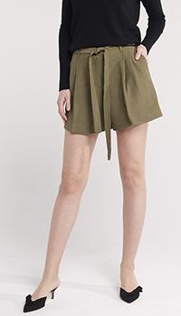 Оливковые шорты Twin-Set с поясом, фото