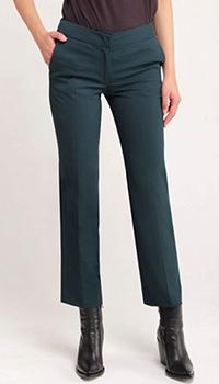 Укороченные брюки Twin-Set темно-зеленого цвета, фото