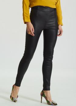 Кожаные леггинсы Panicale Cashmere черного цвета, фото