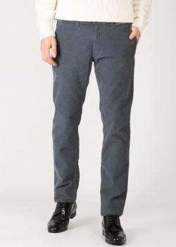 Вельветовые брюки Harmont&Blaine серого цвета, фото