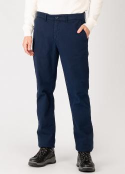Синие брюки Harmont&Blaine прямого кроя, фото