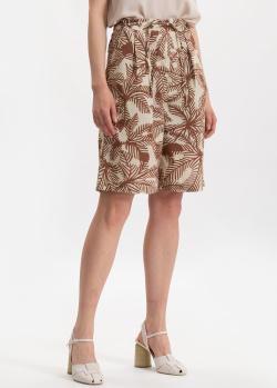Шорты-бермуды Beatrice.B с растительным принтом, фото