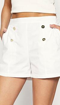 Белые шорты Ea7 Emporio Armani с пуговицами, фото
