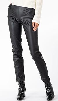Черные брюки Patrizia Pepe из экокожи, фото