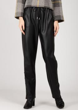 Черные штаны Patrizia Pepe из искусственой кожи, фото