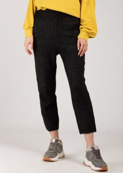 Темно-серые укороченные трикотажные брюки Patrizia Pepe , фото