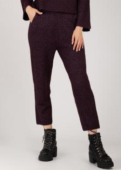 Укороченные трикотажные брюки Patrizia Pepe фиолетового цвета, фото